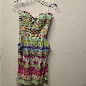 ANTHROPOLOGIE:  Silk Strapless dress